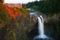 Картинка штат Вашингтон, Сноквалми, Snoqualmie Falls, водопад, США, округ Кинг
