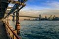 Картинка мост, Нью-Йорк, Манхэттен, Manhattan, New York City, Ист-Ривер