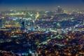 Картинка ночь, огни, вид, панорама, небоскрёбы, Сеул, Южная Корея