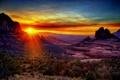 Картинка рассвет, утро, Аризона, США, Седона, Долина Верде