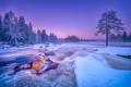 Картинка зима, река, природа