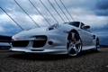 Картинка 911, 997, Porsche, turbo, white, bridge, techart