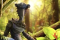 Картинка планета, монстр, растения, арт, пришелец, Sam Leung