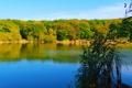 Картинка осень, озеро, Природа, красота, крым, отдых.