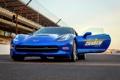 Картинка Corvette, Chevrolet, дверь, передок, корвет, Stingray, Pace Car