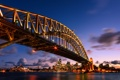 Картинка ночь, мост, огни, Австралия, Sydney, Harbour Bridge, New South Wales