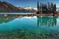 Картинка вода, деревья, горы, Канада