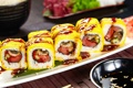 Картинка суши, кунжут, роллы, начинка, японская кухня, соевый соус, нори