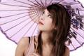 Картинка девушка, портрет, зонт