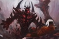 Картинка арт, Dota 2, Juggernaut, Shadow Fiend, Yurnero, Nevermore, Sombernight
