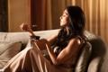 Картинка ложка, Nicole Scherzinger, профиль, Николь Шерзингер, йогурт