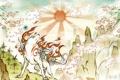 Картинка солнце, волк, Сакура, арт, Sakura, art, PS3
