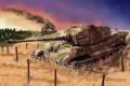 Картинка тигр, танк, германия, tank Tiger 2, German heavy