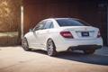 Картинка белый, сзади, Mercedes, white, мерседес, benz, c250
