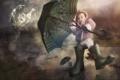 Картинка фон, зонт, ребёнок