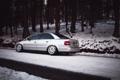 Картинка лес, снег, Audi, ауди, серебристая, stance, догога