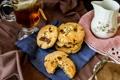 Картинка tea, cookies, пирожное, еда, biscuits, бисквиты, сладкое