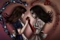 Картинка девушка, кровь, платье, арт, alice, Alice: Madness Returns