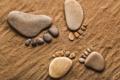 Картинка песок, галька, камни, ноги, лапки, камешки, ступни