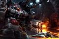 Картинка starcraft 2, Terran, heavy guns, red, warrior