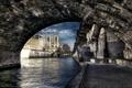 Картинка мост, город, река, Франция, Париж, HDR, Notre Dame de Paris