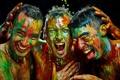 Картинка настроение, краска, парни