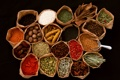 Картинка перец, специи, приправы, бадьян, тмин, брусника, шафран