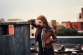 Картинка крыша, девушка, настроение