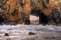 Картинка море, волны, скала, камни, арка, California, Pfeiffer beach