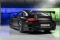 Картинка черный, тюнинг, Porsche, суперкар, задок, Techart, Street R
