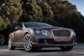Картинка машина, фары, Bentley, Continental, передок, Speed Convertible