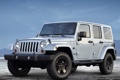 Картинка небо, джип, внедорожник, передок, колёса, jeep, wrangler