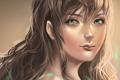 Картинка волосы, арт, девушка, рисунок, взгляд