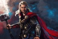 Картинка Chris Hemsworth, Marvel Comics, Thor: The Dark World, Thor, бог