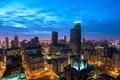 Картинка город, рассвет, утро, Чикаго, США, Chicago