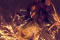 Картинка взгляд, девушка, огонь, цепи, пряди