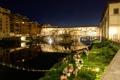 Картинка пейзаж, ночь, мост, природа, город, река, Italy