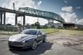Картинка небо, облака, мост, Aston Martin, стройка, DBS, кран