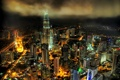 Картинка высотки, город, малайзия, ночь, Патронас, Куала-Лумпура