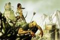 Картинка девушка, мужик, арт, лара, Tomb Raider reborn contest