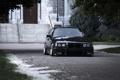 Картинка BMW, E36, тюнинг, черная, black, бмв, перед