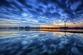 Картинка небо, пейзаж, закат, город, Торонто