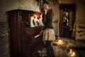 Картинка девушка, ноты, пианино