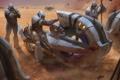 Картинка транспорт, пустыня, броня, halo wars, отметки
