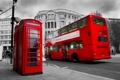 Картинка Лондон, London, England, telephone, red bus