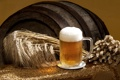 Картинка barley, beer, wall, wooden barrel, Hordeum vulgare