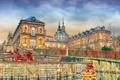Картинка небо, тучи, Испания, дворец, Сеговия, резиденция королей, Ла-Гранха
