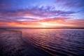 Картинка небо, вода, закат, гладь