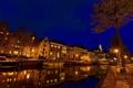 Картинка ночь, Нидерланды, night, Nederland, Groningen, Гронинген