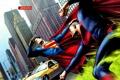 Картинка superman, битва, new york, нью йорк, комикс, супермэн, dc comics